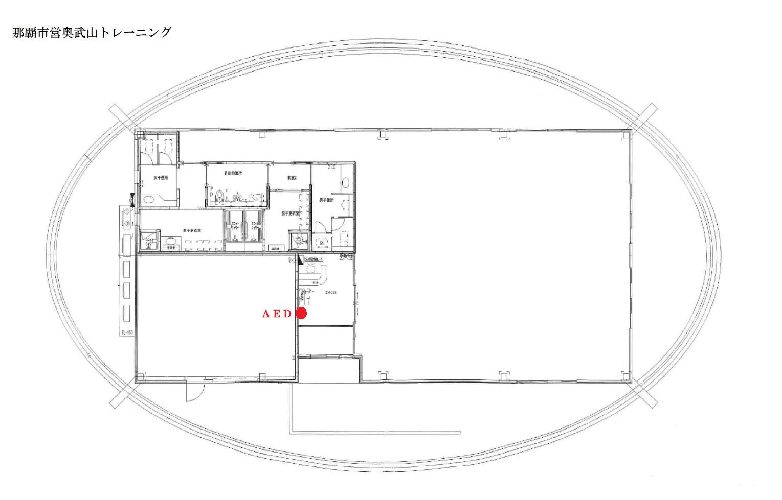 トレ室AED設置場所